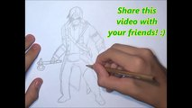 How To Draw Connor Kenway from Assassins Creed İ ✎ YouCanDrawIt ツ 1080p HD