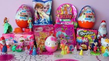 Frozen Disney Princess My Little Pony Hello Kitty Filly Shopkins Winx Unboxing Kinder Surprise Eggs