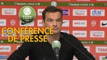 Conférence de presse AS Nancy Lorraine - Clermont Foot (2-2) : Vincent HOGNON (ASNL) - Pascal GASTIEN (CF63) - 2017/2018