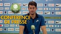 Conférence de presse Paris FC - Valenciennes FC (3-2) : Fabien MERCADAL (PFC) - Réginald RAY (VAFC) - 2017/2018