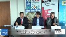 L'Agglo signe avec la Caf de l'Hérault le contrat enfance jeunesse 2017-2020