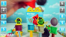 Angry Birds Movie McDonalds Happy Meal Toys Opening with Angry Birds Toys Challenge by ToyRap