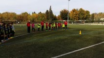 1 minute de silence observé lors des matchs ce week-end en mémoire de Pédro .