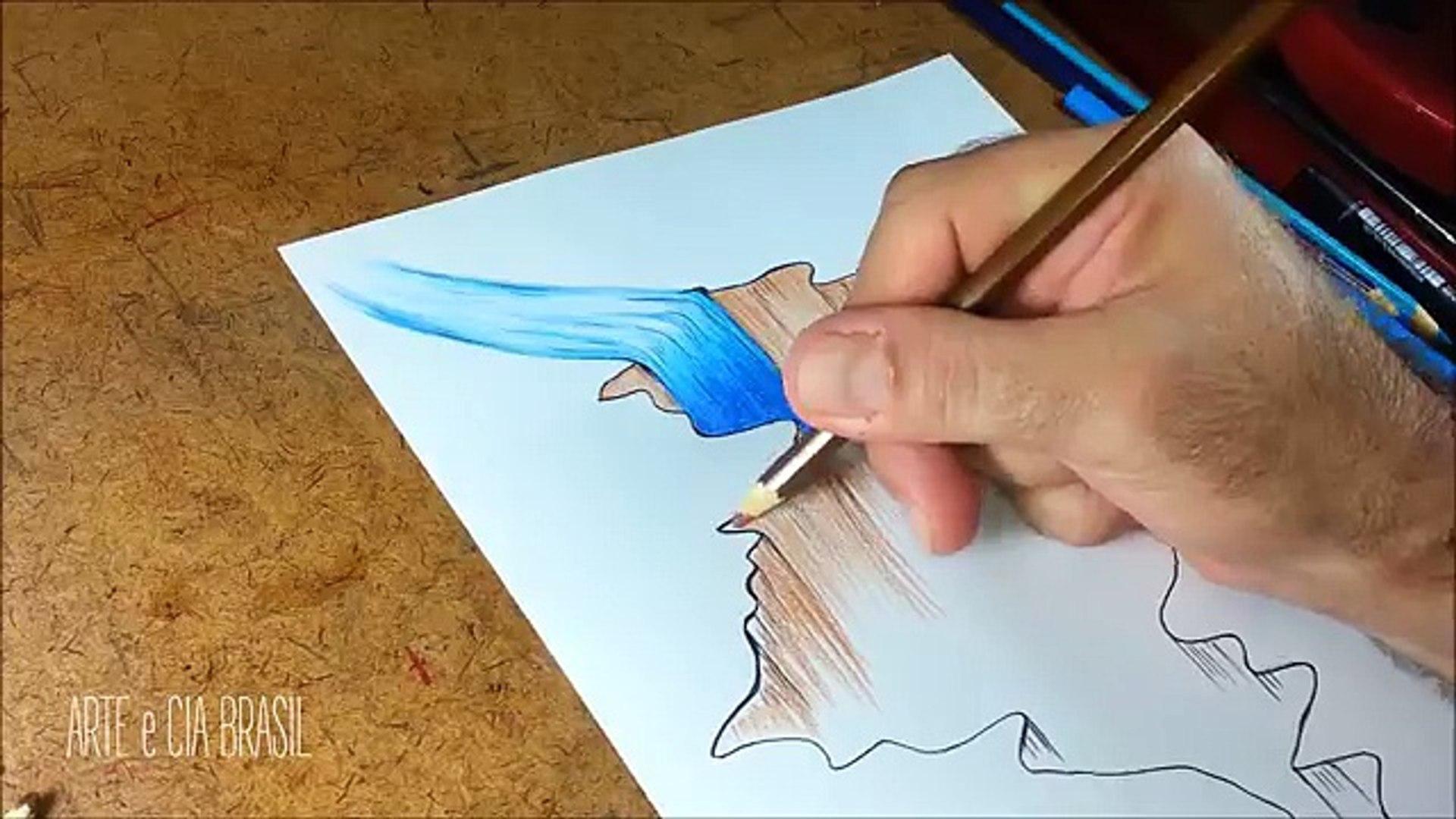 Como Desenhar Buraco Com Efeito 3d Passo A Passo