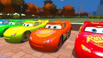 Color Lightning Mcqueen Cars for Kids w Spiderman Cartoon and Learn Colors for Kids - Nursery Rhymes