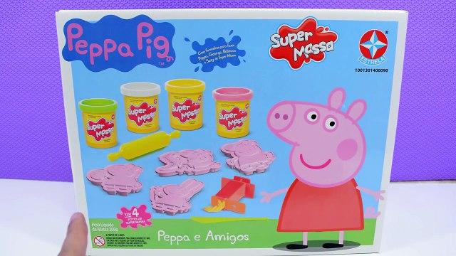 Peppa Português - Brinquedo da Peppa Pig e George com Massinha de Modelar em Português - Turma kids