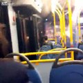 Fireworks set off on bus by Youths