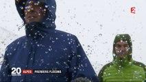 Alpes : les premiers flocons de neige sont tombés
