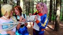 Why is Frozen Elsa CRYING? w/ Spiderman Maleficent Joker Pink Spidergirl Princess Anna Superhero Fun