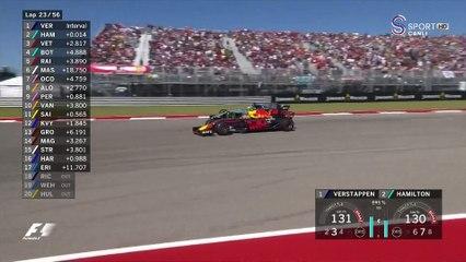 2017 Amerika GP - Hamilton'un Vertappen'i Geçişi