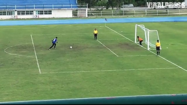 Goalkeeper's Penalty Blunder As Ball Bounces Back Into The Goal
