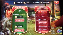 20 Gold Cofres 5160 Gemas Heroes charge español