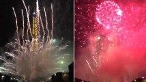 Les images du feu d'artifice sur la tour Eiffel qui a inquiété certains Parisiens