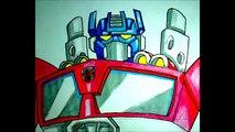 how to draw optimus, como desenhar optimus, como dibujar optimus transformers