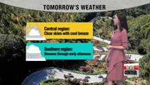 Chilly weather continues, rain expected in south _ 102317