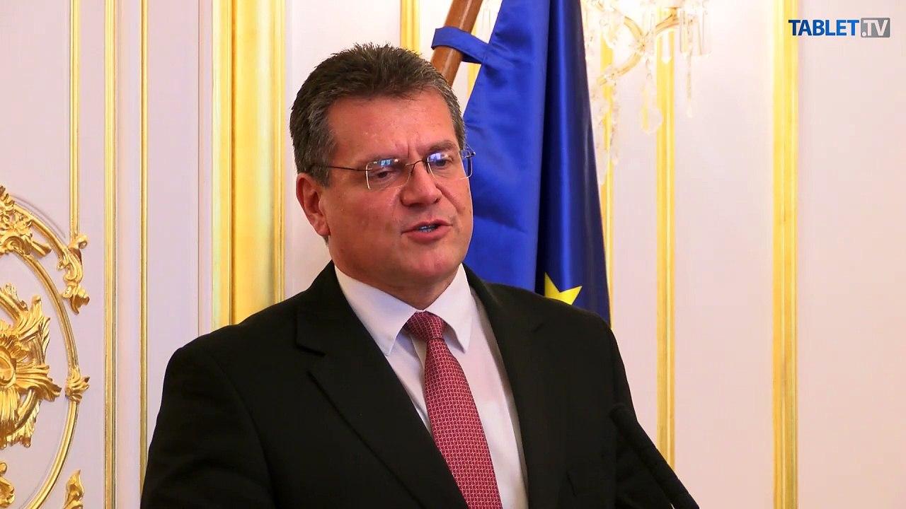 ZÁZNAM: M. ŠEFČOVIČ: Musíme lepšie komunikovať, čo všetko sa od vstupu do EÚ zlepšilo