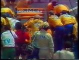 Gran Premio di Francia 1987: Pit stop di A. Senna, Prost, Mansell e Johansson e ritiro di Boutsen