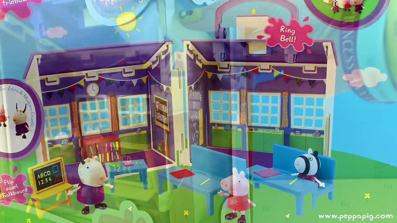 ESCUELA PORTATIL DE PEPPA PIG, PEPPA PIGS SCHOOL PLAYSET – JUGUETES DE PEPPA PIG TIENE UN TIMBRE