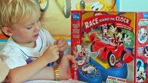 Mickey Mouse Casa Carrinho Jogo Corrida Minnie Disney Kinder Ovo Surpresa Brinquedos Video