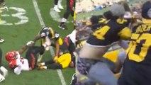 Vontaze Burfict KICKS Roosevelt Nix in the Head, Steelers Fans Get into BLOODY Fight in the Stands
