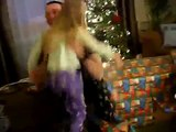 Dad, Wrapped as a Present, Surprises Daughter on Christmas