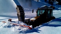 Awesome Machines Deep Snow Removal Snow Blowing Sweeping Snow Turf Cutting Snow