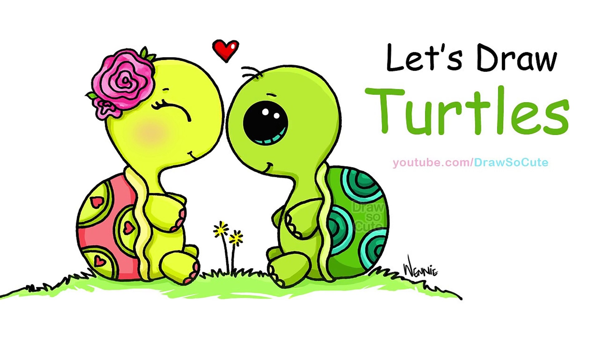 How To Draw Turtles Sweet And Cute Step By Step Video Dailymotion