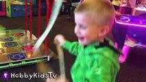 Family Fun ARCADE Day! Games + Prize Toys and Ticket Family Fun HobbyKidsTV