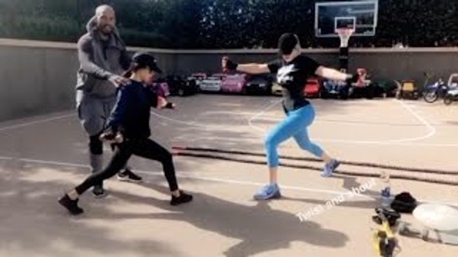 Kourtney & Khloe Kardashians Daily Workout Routine | FULL VIDEO