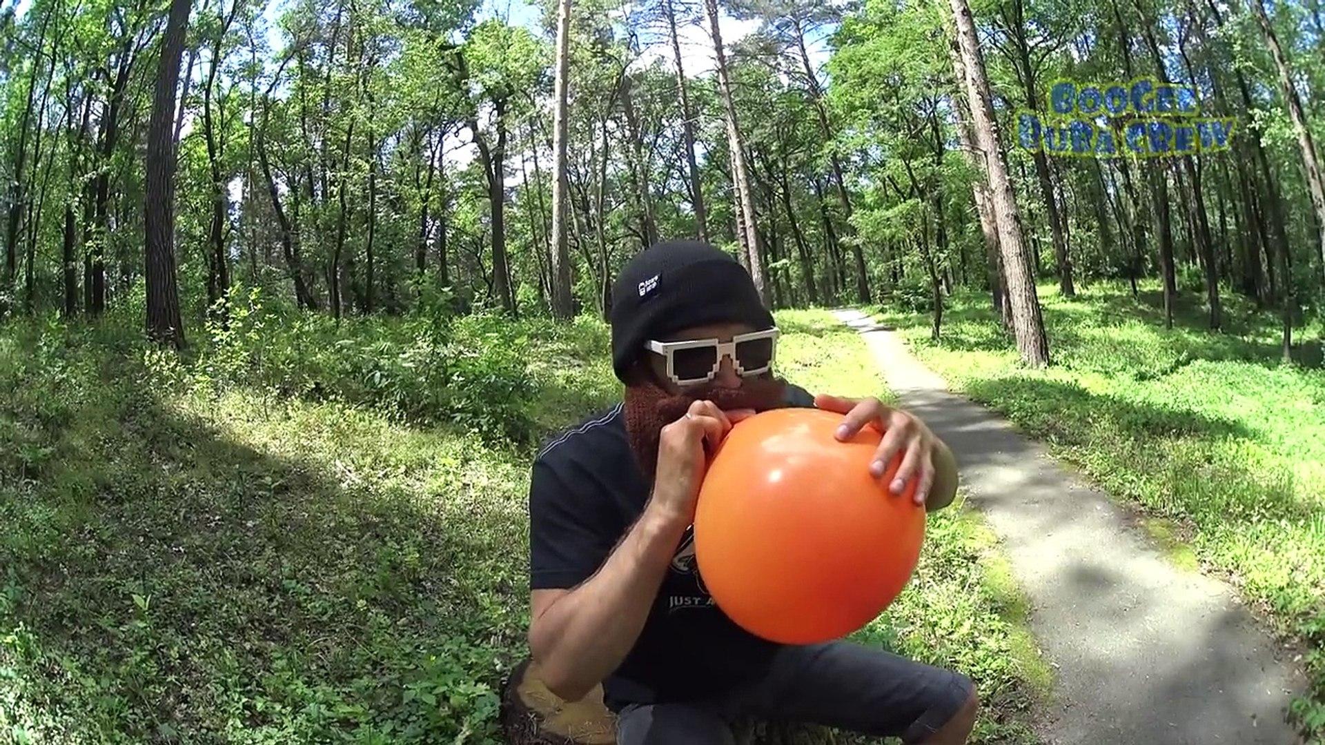 Лопаем шарики с водой. Челендж. Воздушные Шары. Challenge. Трюки. Гироскутер в помощь.