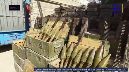 VIDEO: Syrian Army captures enough ISIS weapons to outfit entire division