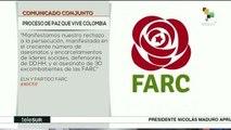 FARC y ELN reiteran compromiso de alcanzar la paz en Colombia