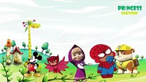 Masha Paw Patrol Transforms Into Pj Masks Saves Spiderman Mickey Mouse Nursery Rhymes