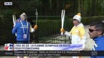 L'œil de Georges Quirino : la flamme olympique a été allumée