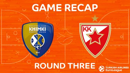 EuroLeague 2017-18 Highlights Regular Season Round 3 video: Khimki - Crvena Zvezda