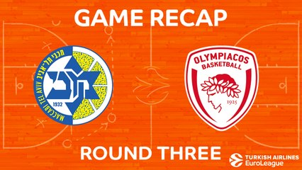 EuroLeague 2017-18 Highlights Regular Season Round 3 video: Maccabi 68-69 Olympiacos