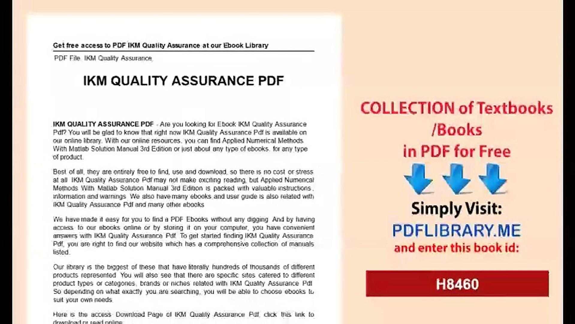 IKM Quality Assurance