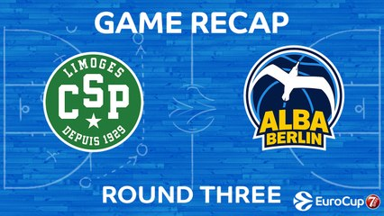 7Days EuroCup Highlights Regular Season, Round 3: Limoges 65-73 ALBA Berlin