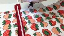 主婦のミシン、簡単仕切りポーチの作り方