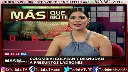 Golpean y desnudan a presuntos ladrones-Más Que Noticias-Video
