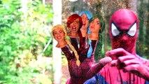 Frozen Elsa Gets FIRE POWERS! w/ Spiderman Anna Joker Maleficent Pink Spidergirl! Superhero Fun