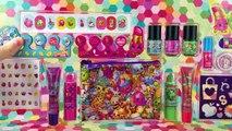Shopkins Beauty Set Scented Lip Gloss Lippy Lips Lip Balm Cupcake Chic Glitter Nail Polish