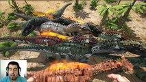 ARK Survival Evolved Allosaurus VS Carno Batalla dinosaurios arena Gameplay español