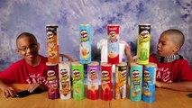 PRINGLES CHALLENGE! Potato Chip Flavors Tasting Contest! Twin Edition