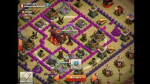 TOWN HALL 9 SUPER QUEEN W/ VALKYRIES 3-STARRING TOWN HALL 10!!! (TH9 vs low level TH10)