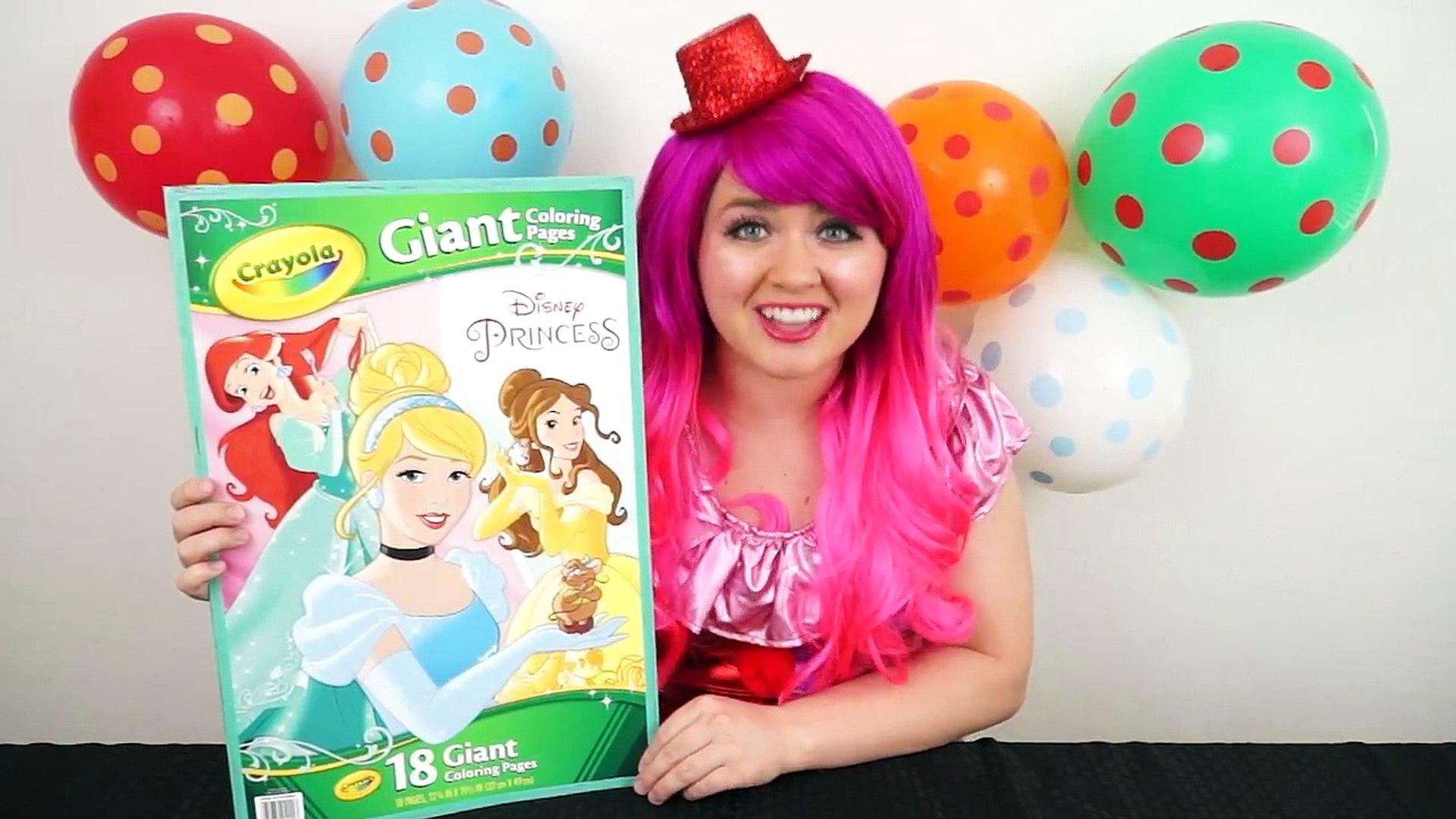 Coloring Cinderella Disney Princess GIANT Coloring Book Page Colored Pencil | KiMMi THE CLOWN