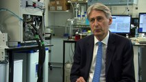 Chancellor Philip Hammond welcomes 'solid' growth