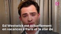 Ed Westwick en vacances en France