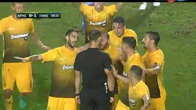 Aris Disallowed Goal - Aris 0-1 Panionios 25.10.2017