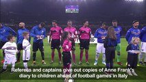Football/Italy: Captains, refs give out Anne Frank's diary